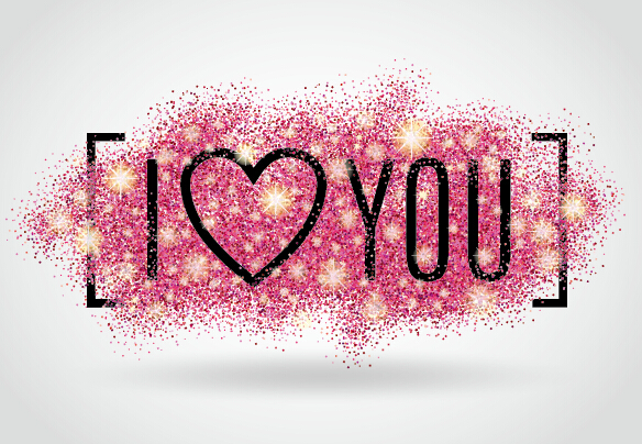 valentines i love you banners vector 03 free download
