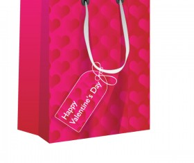 Valentines shopping bag with tags vector