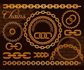 Vector golden chains illustration 01