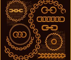 Vector golden chains illustration 03
