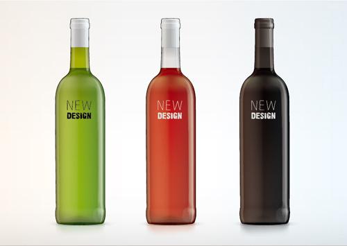 Vector wine bottle design material set 05 vector life for Wine bottle material