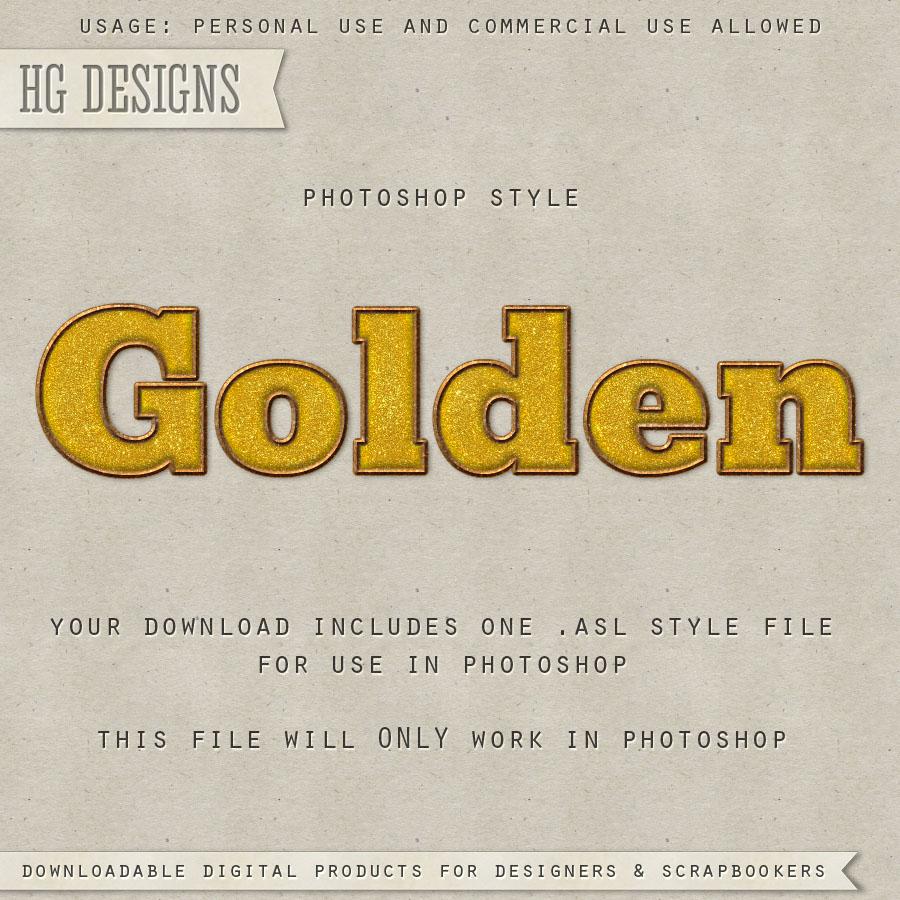 Vintage golden styles