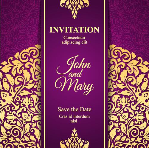 Vintage invitation card with purple floral pattern vector 11 free vintage invitation card with purple floral pattern vector 11 stopboris Choice Image
