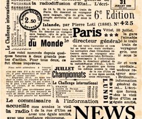 Vintage newspapers vector template 03