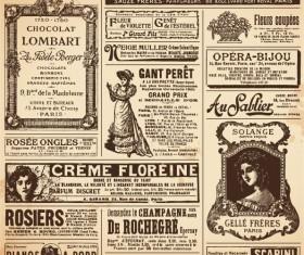 Vintage newspapers vector template 04