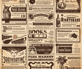 Vintage newspapers vector template 05
