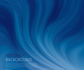Wave blue abstract vector background