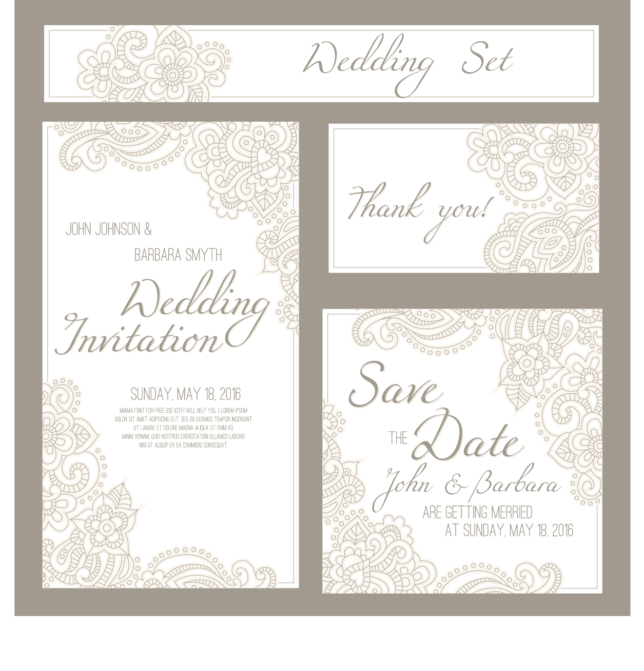 Wedding invitation card with banner vector free download wedding invitation card with banner vector stopboris Images