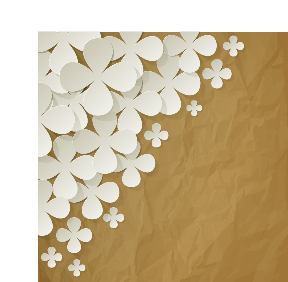 White paper flower with brown paper vector background free download white paper flower with brown paper vector background mightylinksfo