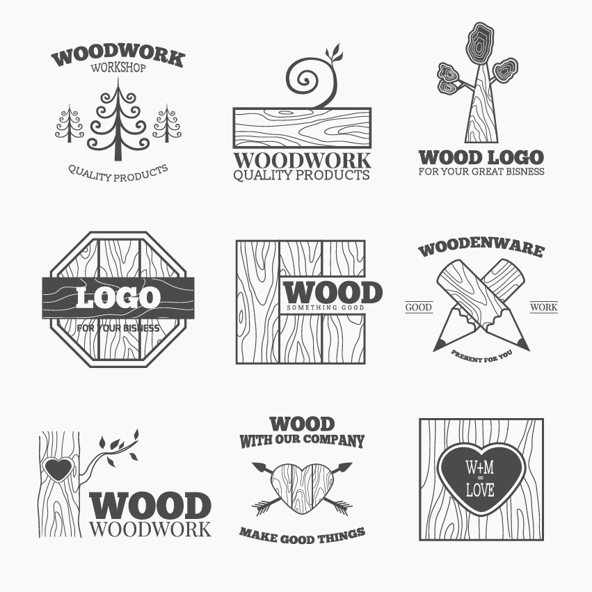 Woods Lumber Logo ~ Woodworking logo design pixshark images