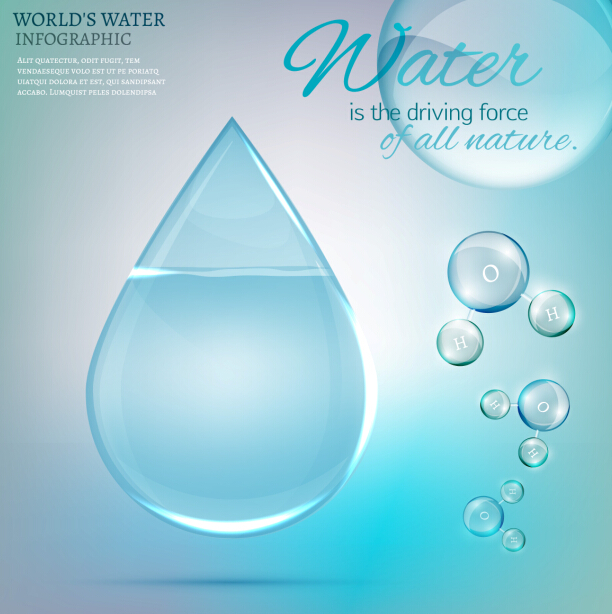 world water infographics vector template free download