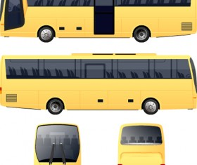 Yellow bus vector material