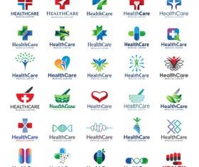 healthcare logos creative design vector