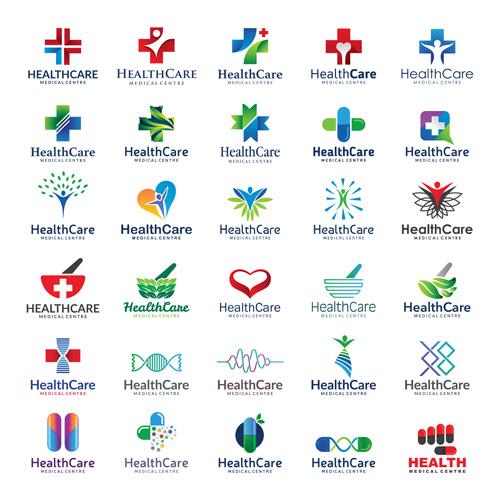 Healthcare Logos Creative Design Vector Vector Logo Free