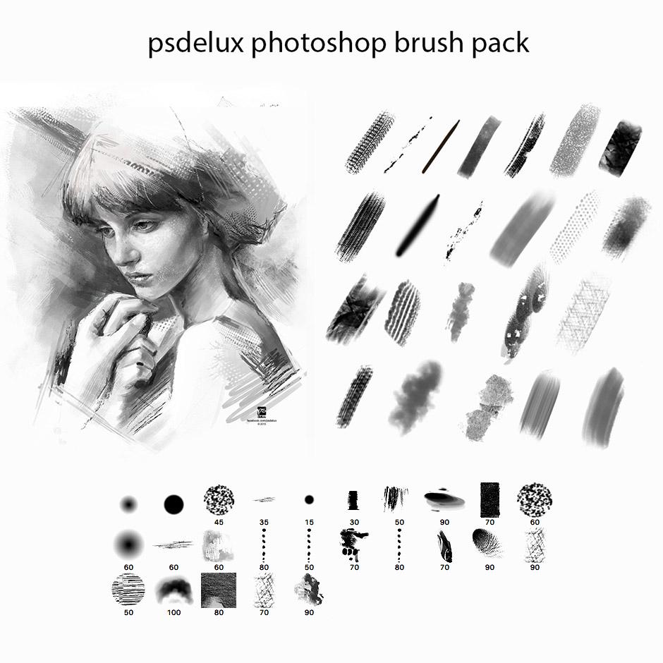 psdelux photoshop brushes pack   photoshop brushes free