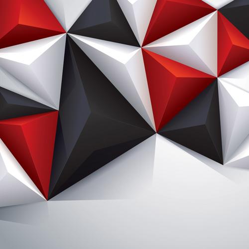 Green Polygonal Business Card: 3D Polygonal Background Art Vector 06