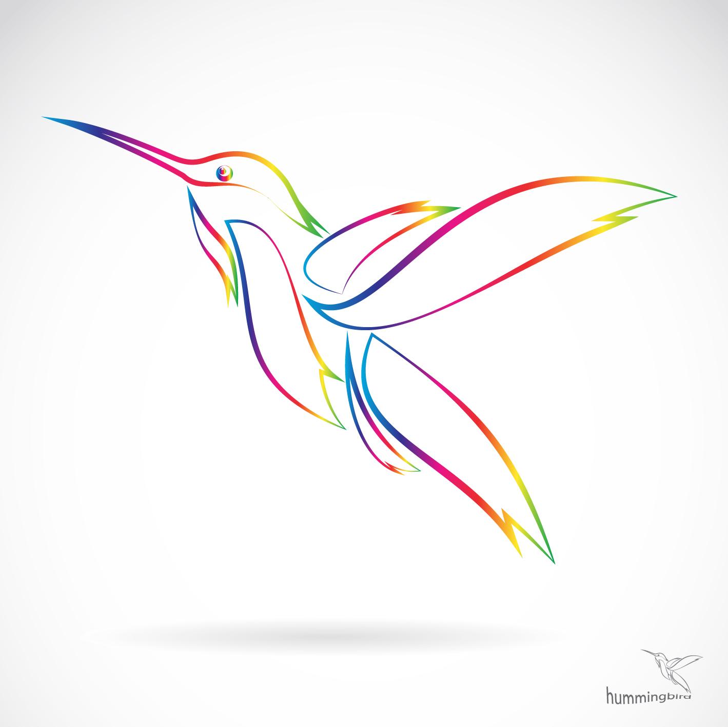 abstract hummingbird vector free download