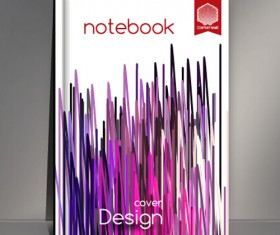Abstract styles botebook cover design vector 01