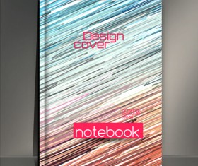 Abstract styles botebook cover design vector 02