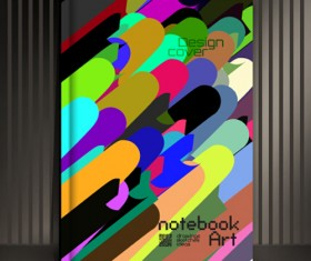 Abstract styles botebook cover design vector 07