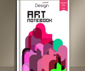 Abstract styles botebook cover design vector 10