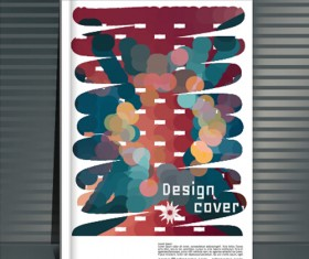 Abstract styles botebook cover design vector 11