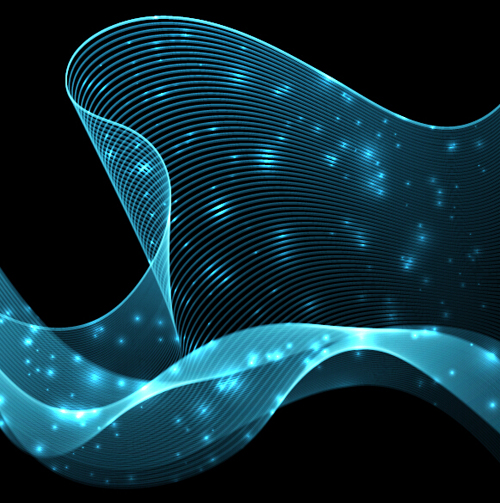 Abstract wave motion background graphics vector 01