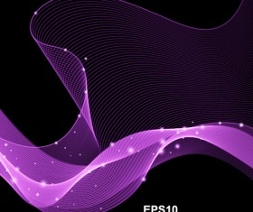 Abstract wave motion background graphics vector 09
