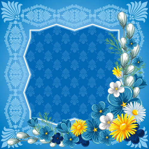 Blue Frames And Borders Floral | www.pixshark.com - Images ...