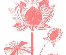 Beautiful lotus photoshop brushes