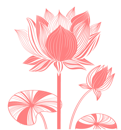 Beautiful Lotus Photoshop Brushes Free Download