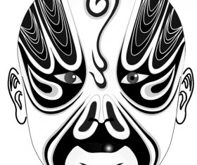 Beijing Opera mask photoshop brushes