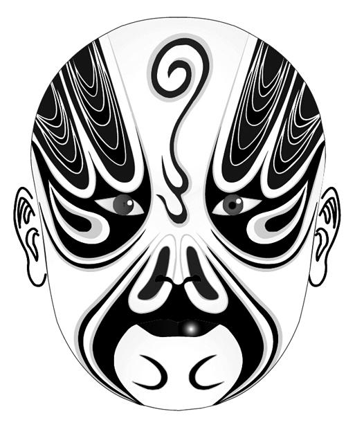 Beijing Opera mask photoshop brushes