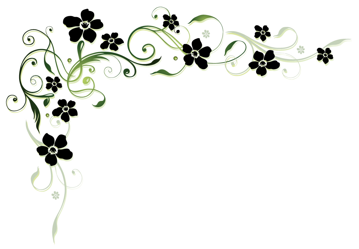 Black flower with floral decor vector Vector Floral Vector Flower free dow