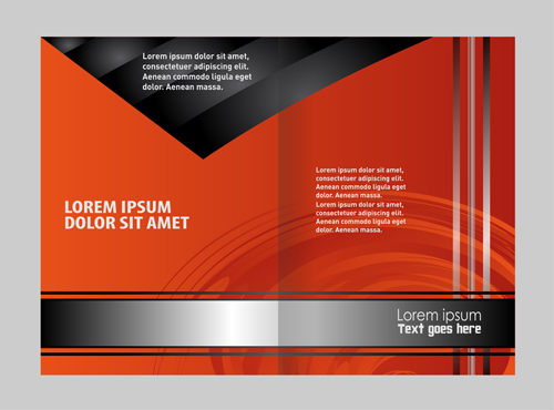 Black With Red Brochure Cover Template Vector 06 Free Download