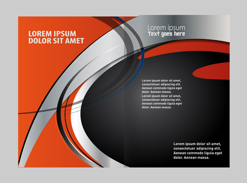 Black With Red Brochure Cover Template Vector 10 Free Download