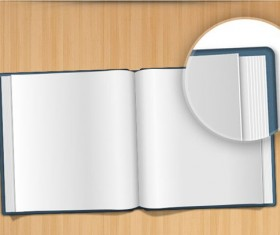 Blank book PSD graphic