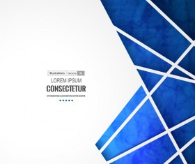 Blue geometric polygons vector background 01