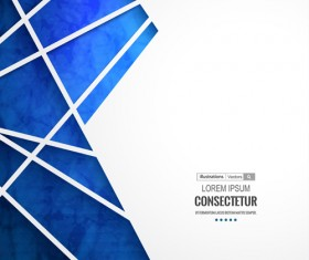 Blue geometric polygons vector background 02