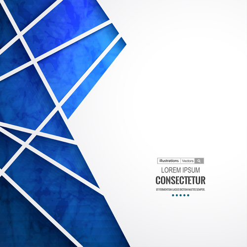 Blue geometric polygons vector background 02 free download