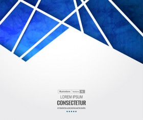Blue geometric polygons vector background 03