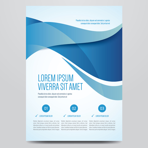 Corporate Book Cover Design Vector : Blue style corporate brochure cover design vector free