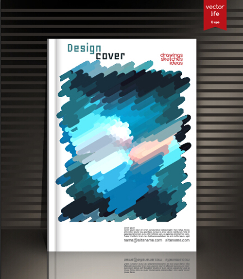 Modern Book Cover Designs : Book cover modern design vector free