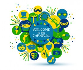 Brazil carnival creative background vector 03