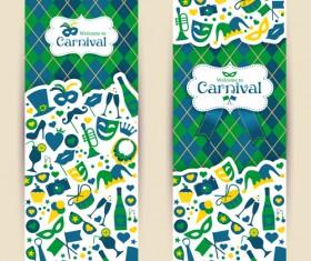 Brazil carnival vertical banner design vector