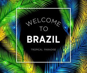 Brazil tropical paradise background vector 01