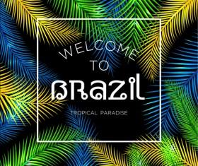 Brazil tropical paradise background vector 02