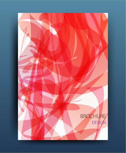 Business brochure cover red abstract vector