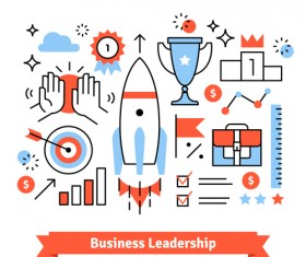 Business leadership vector template