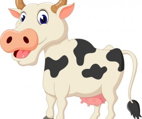 Cartoon baby cow vector illustration 01